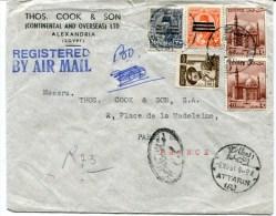 ATTARIN Env. Recom De 1954 Pour PARIS - Egypt