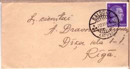 Latvia,LETTLAND.Germany Occupation Cover Cancel BALDONE A 1943 OSTLAND - Lettonie