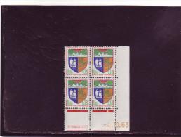 N° 1354A - 0,18F Blason De ST DENIS - B De A+B - 1° Tirage Du 1.10.63 Au 11.10.63 - 4.10.1963 - - 1960-1969