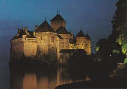 Suiza--Vaud--Veytaux--Chateau De Chillon--Vue De Nuit - Castillos