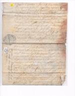 CHALONS   1756  -   12 Sols   -  PARCHEMIN à  HELMAURUPT  ( Actuellement Heiltz Le Maurupt  51 ) - Cachets Généralité