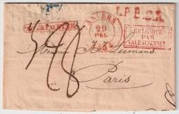 """1834, """" ANVERS """", Ra 1 """" PAR ESTAFETTE """" , #5451 - 1830-1849 (Belgique Indépendante)"""