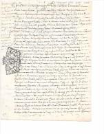 CHALONS   1718  -   8 Sols   PARCHEMIN   - Acquêt - Seals Of Generality