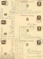LOTTICINO 10 INTERI POSTALI DEL 1942 CON ANNULLO RICCIONE MARINA FORLI - Postwaardestukken