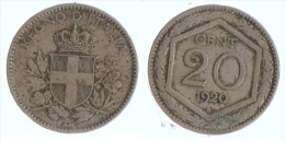 Italie 20 Cent 1920 R - 1861-1946 : Kingdom