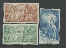 Inini P.A.  N°  1 / 3  XX P.E.I.Q.I.: Les 3 Valeurs Sans Charnière TB