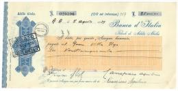 BANCA D'ITALIA ADDIS ABEBA 1939 ASSEGNO BANCA D'ITALIA DA 25000 LIRE DOC.203 - Assegni & Assegni Di Viaggio