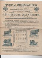 Prospectus MOUSSEAU (bordeaux Pétrisseurs Mécaniques) Vers 1910 (PPP2656) - Agricoltura