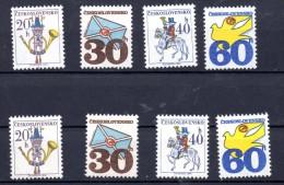 CHECOSLOVAQUIA.  AÑO 1974. Mi 2228/2231 X + Y - Yv  2073/2076 + 2073a/2076a (MNH) - Tschechoslowakei/CSSR