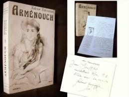 « ARMENOUCH » Takvor TAKVORIAN Arménien Exode Armenie LAS Lettre + Envoi Signé Inscribed Signed ! - Biographien
