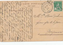 255/24 - Carte Fantaisie TP Pellens 1913 - Annulé à L' Arrivée Par La Griffe De GERPINNES - Ecrite Au Champ D' Aviation - Unclassified