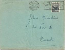 TARGHETTA PUBBLICITARIA BARI 1947 XI FIERA DEL LEVANTE - 1946-60: Marcofilia