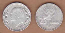 AC - TURKEY 25 KURUS 1937 SILVER COIN - Türkei