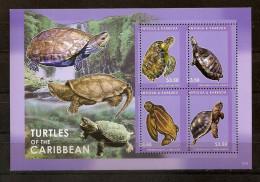 Antigua 2012, Nr. 5053-56 Schildkröten Postfrisch (mnh) - Antigua Und Barbuda (1981-...)