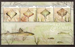 Antigua 2012, Nr. 5048-51 Rochen Fische Postfrisch (mnh) - Antigua Und Barbuda (1981-...)