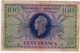 Peu Courant 100 Francs TRESOR CENTRAL  émission Du 2 Octobre 1943 (pour La CORSE) - Trésor