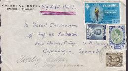 Thailand Air Mail ORIENTAL HOTEL, BANGKOK 1963? Cover Brief Denmark - Tailandia