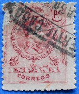 SPAIN ESPANA 1 Pt 1912 ALPHONSE ALFONS XIII M.240 - USED WITH NUMBER - 1889-1931 Regno: Alfonso XIII