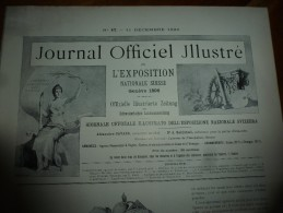 1896 N°47 JENS:Station Laitière à FRIBOURG;Ecole Agri. à Cernier;COUTELLERIE De Table Et De Poche; Course Radeau à BERNE - Journaux - Quotidiens