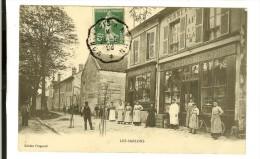 Ed Prugnard- Les Sablons, Boulangerie Monceau, Epicerie-Mercerie Prugnard-Richard Animation-timbre Recto 1908 - France