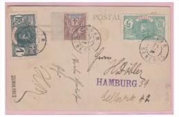 SENEGAL -- CARTE POSTALE 1913 --- DE DAKAR POUR HAMBOURG -- - Sénégal (1887-1944)