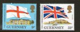 GUERNSEY 1984 DRAPEAUX-CONFERENCE POSTALE YVERT  N°288/89 NEUF MNH** - Francobolli