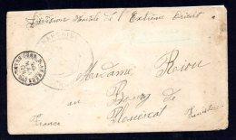 CHINE Lettre Départ Shanghai 20-01-1901 Pour Plouescat (Finistère) Par La Division Navale De L'Extrême Orient - TB - Chine (1894-1922)