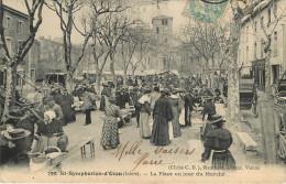 Saint Symphorien D'Ozon - Place  Un Jour Du Marché - Autres Communes