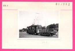 Photo Collée Sur Un Carton - Tram Gvba. Emr. 120 + Gwg. 1 Pr. Hendrikkade - TRAMARCHIEF - W. J. M. LEIDERITZ - 1945 - Strassenbahnen