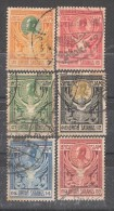 SIAM 1910  Roi Chulalongkorn I,Série Complète Yvert N° 96 / 101 , Obl  , TB - Siam