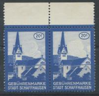 933 - SCHAFFHAUSEN Fiskalmarken - Steuermarken