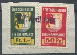 936 - SCHAFFHAUSEN Fiskalmarken - Steuermarken