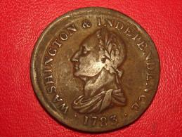 USA - Washington Colonial 04 KM#Tn38.1 - Draped Bust, No Button, Offcenter - Pre-federal Issues