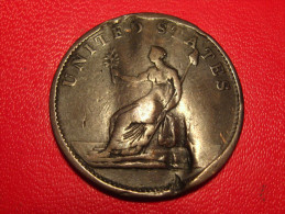 USA - Washington Colonial 06 KM#Tn38.1 - Draped Bust, No Button, Damaged - Pre-federal Issues