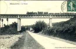 CPA - Chénu (72) - Viaduc Métallique Ferroviaire - Ouvrages D'Art