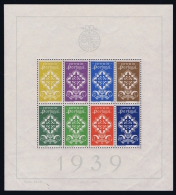 Portugal: Mi  Block Nr 1 MNH/**/postfrisch/neuf 1939 1940 Some Ink Or Album Black At The Back