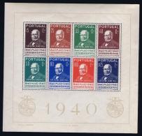 Portugal: Mi  Block Nr 3 MNH/**/postfrisch/neuf 1940  622 - 629