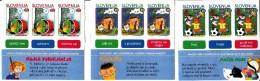 Slovenia MNH Scott #396a Panes Of 3 Each Characters From Children's Books: Pedenjped, Mojca Pokrajkulja, Macek Muri - Slovénie