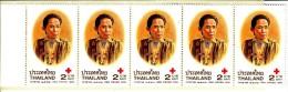 Thailand Booklet Scott #1860 Pane Of 5 2b Queen Grandmother - Red Cross Fair - Thaïlande