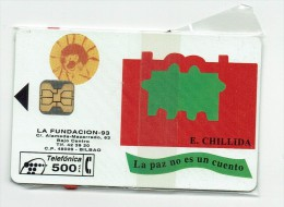 Spain Phonecard  P- 037 Fundacion Chillida - Spain