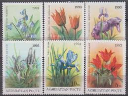 Azerbaijan 1993. Flowers.Michel.91-96. MNH.22518 - Végétaux