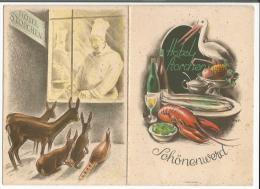 Schönenwerd Soleure, Hotel Storchen, E.& F. Schmidt - Keller, Menu (28) - Menus
