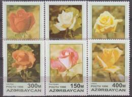 Azerbaijan 1996. Flowers.Roses.Michel.320-25. MNH.22520 - Végétaux