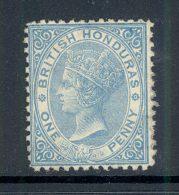 BRITISH HONDURAS, 1872 1d Pale Blue Wmk CC Vf Mint Lightly Hinged, SG5, Cat £95 - Honduras Britannico (...-1970)
