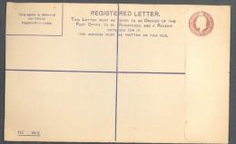 GB, 1900s Edward VII 2d+1d Registered Cover Unused - 1902-1951 (Koningen)