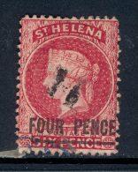 ST HELENA, 1864 4d (wmk CC, Words 18mm Long) Tear At Bottom - Sint-Helena