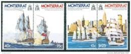 1976 Montserrat Navi Velieri Sailing Ships Bateaux à Voile Block MNH** Bic24 - Montserrat