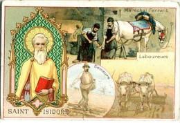 """Chicorée """"Aux Enfants De La France"""" - Illustr. Saint Isidore - Maréchal Ferrant, Laboureurs, Semeurs - Chromos"""