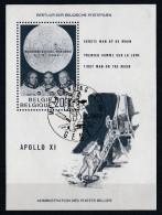 Belgique 1969 - Bloc Feuillet N° 46 Oblitération 1er Jour : L'homme Sur La Lune - Blocs 1962-....