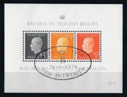 Belgique 1976 - Bloc Feuillet N° 50 Et 51 Oblitération 1er Jour : 25ème Anniversaire Du Règne De Sa Majesté Le Roi Baudo - Blocs 1962-....